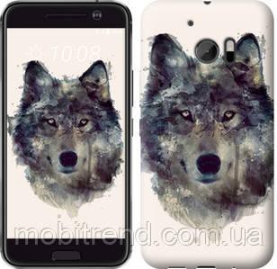 Чехол на HTC 10 Волк-арт