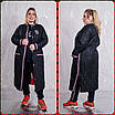 Женское плащевое демисезонное Пальто в больших размерах 10uk1451, фото 3