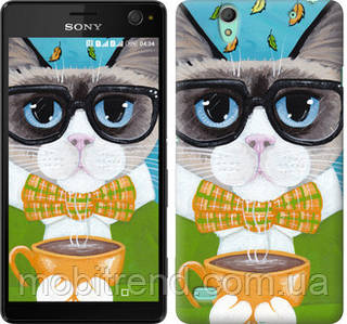 Чехол на Sony Xperia C4 E5333 Cat&Coffee