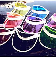 Пластиковые козырьки на голову от солнца