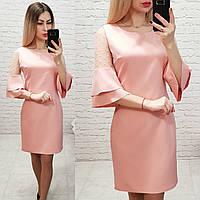 Платье женское, креп+сетка, модель 152, в 6-ти расцветках, фото 1