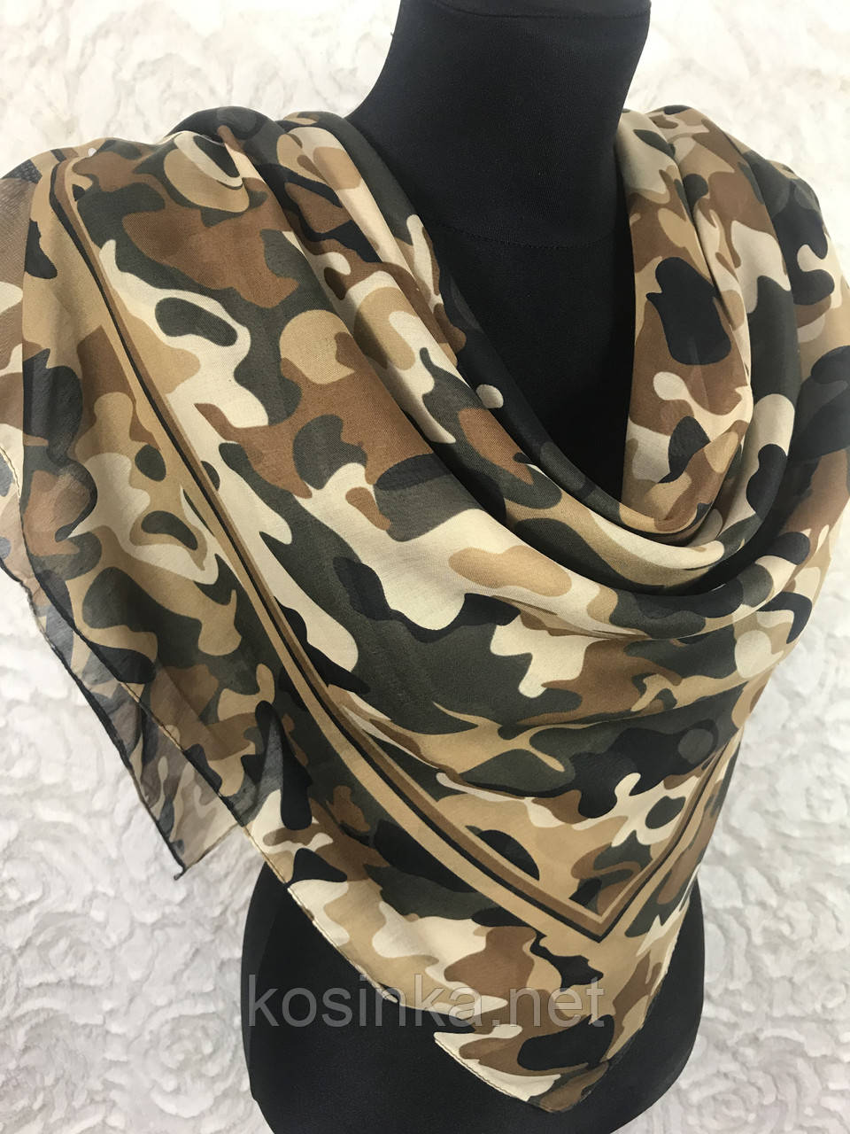 Бежевый камуфляжный платок хлопок 95х95 см (цв.5)