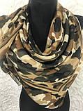 Бежевый камуфляжный платок хлопок 95х95 см (цв.5), фото 2