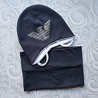 Весенний комплект, шапка и снуд Armani, фото 1