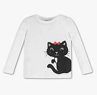 Детский белый реглан с котиком на девочку C&A Германия Размер 128, 140