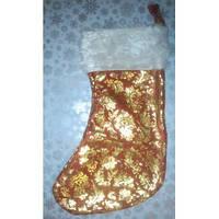 Носок теплый для новогодних подарков