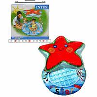 Детский надувной бассейн Звезда с навесом INTEX 57428