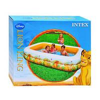 Бассейн надувной детский прямоугольный Король Лев Дисней INTEX 57492