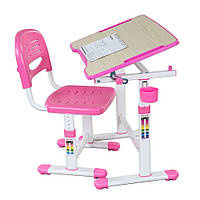 Комплект FunDesk Парта и стул-трансформеры Piccolino II Pink