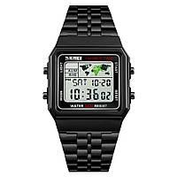 Skmei 1338 world черные мужские   часы, фото 1