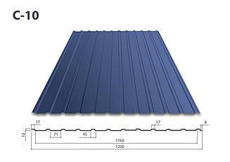 Профнастил С-10 полимер (0.5) Корея