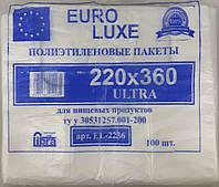 Пакет майка euroluxe 22*36 белый