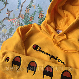 Худи Champion Yellow (нашивка)