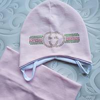 Весенний комплект, шапка и снуд Gucci, фото 1