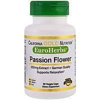 Пасифлора екстракт, Passion Flower, California Gold Nutrition, 250 мг, 60 капсул вегетаріанських