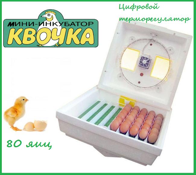 """Инкубатор """"Квочка"""" 80 яиц (цифровой терморегулятор) механический переворот"""