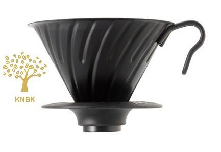 Металлический Пуровер HARIO V60 02 (400мл.) Матовый/Черный