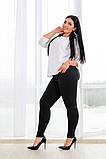 Женские облегающие черные джинсы 30-38разм., фото 2