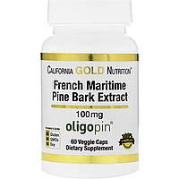 Экстракт сосновой коры, California Gold Nutrition, 100 мг, 60 капсул