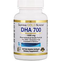 Рыбий жир ДГК 700, California Gold Nutrition, 30 таблеток