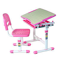 Комплект FunDesk Парта и стул-трансформеры Piccolino Pink, фото 1