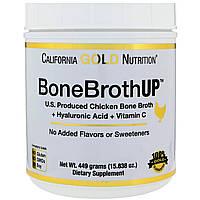 Протеин из куриного бульона, с гиалуроновой кислотой и витамином С, California Gold Nutrition, 449 грамм