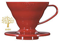 Пуровер HARIO V60 01 (200мл.) Красный Полипропилен VD-01R, фото 1