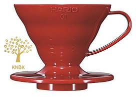 Пуровер HARIO V60 01 (200мл.) Червоний Поліпропілен VD-01R