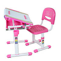 Комплект FunDesk Парта и стул-трансформеры Bambino Pink