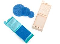 Гистологические губки прямоугольные, белые, синие, или круглые синие Biopsy pads