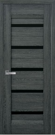 Дверь межкомнатная с чёрным стеклом LIRA
