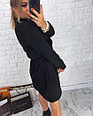 Трикотажное платье на запах с поясом 3plt2423, фото 3