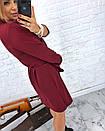 Трикотажное платье на запах с поясом 3plt2423, фото 4