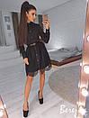 Платье-рубашка с кружевом и длинным рукавом 66plt2431, фото 2
