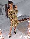 Леопардовое платье с разрезами на плечах на бретельках 66plt2432, фото 3