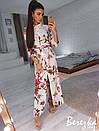 Длинное принтованное платье-рубашка с разрезами 66plt2433, фото 2