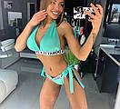 Женский спортивный купальник шторками 18bod185, фото 3