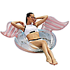 Надувной круг Modarina Крылья Ангела  150 см  Розовый NW3002