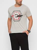 Серая мужская футболка Lc Waikiki / Лс Вайкики с надписью Think cool be cool, фото 1
