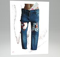Стрейчеві джинси Paris перевертиш для дівчинки 4-6 років, фото 1