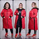 Женское стеганное плащевое Пальто в больших размерах 10blr1452, фото 2