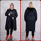 Женское стеганное плащевое Пальто в больших размерах 10blr1452, фото 4