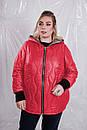 Женская двухсторонняя демисезонная куртка в больших размерах 10blr1453, фото 7