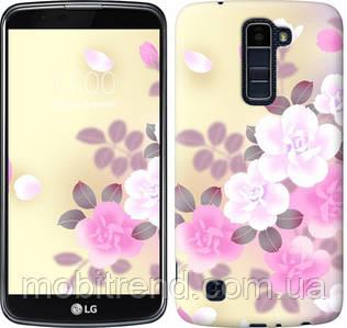 Чехол на LG K10 / K410 Японские цветы