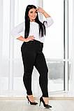 Женские облегающие черные стрейчевые джинсы 30-38разм., фото 3