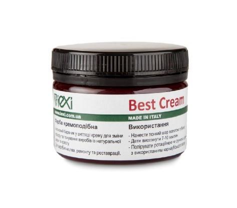 Best Cream кремоподобная фарба для натуральної шкіри і краста 100мл 021 темно синій