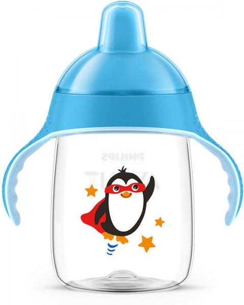 Чашка с носиком Philips Avent 18+, голубой, 340 мл (SCF755/00)