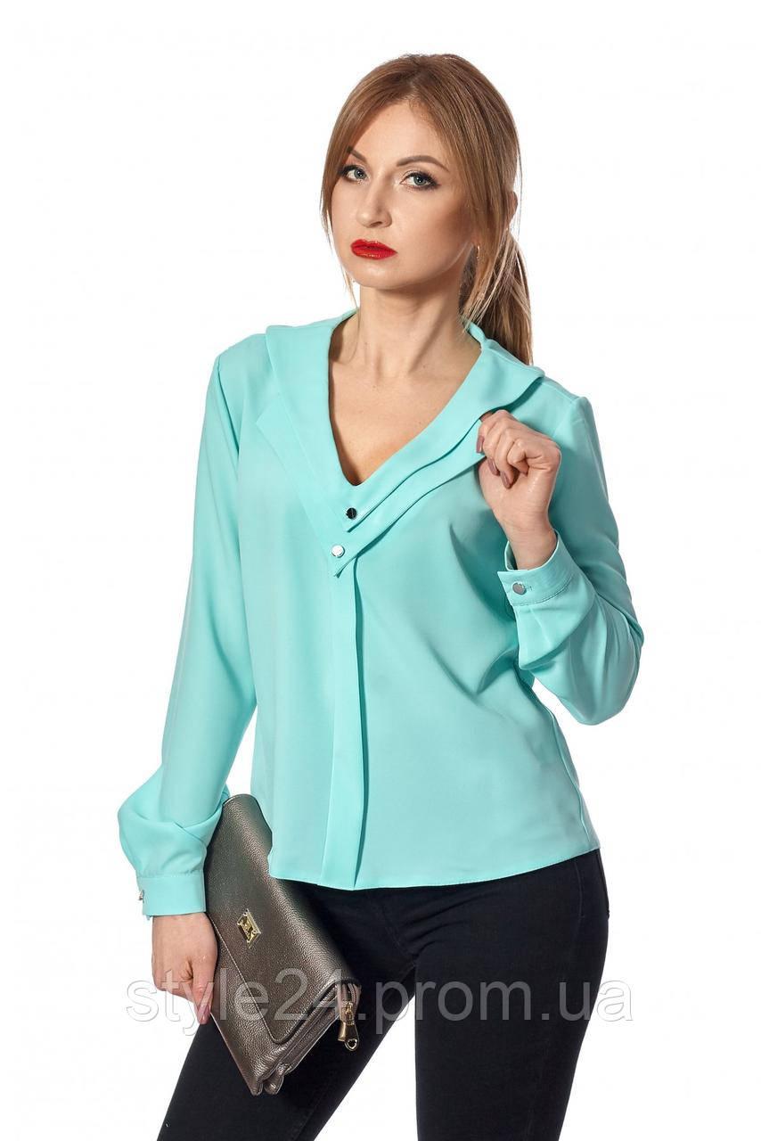 Стильна жІноча блуза з оформленим декольте . Р-ри 42-52