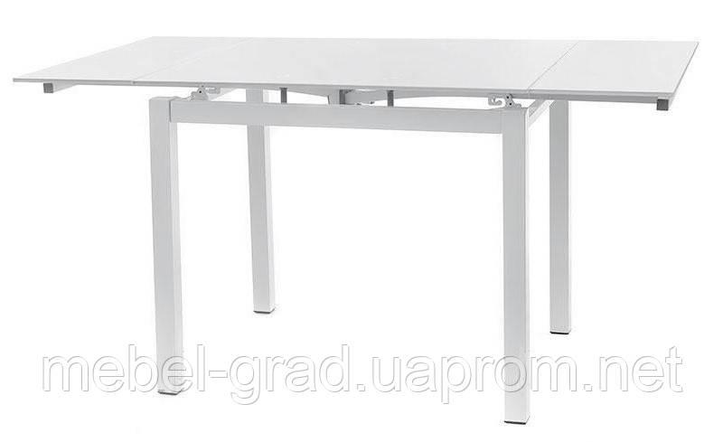 Стол обеденный (раскладной) T-231-3 Vetro Mebel белый