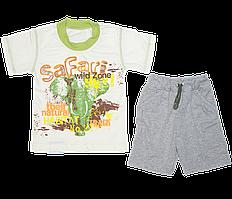 Детский летний костюмчик р. 110-116: футболка и шортики, тонкий хлопок; ТМ Финтекс, Украина